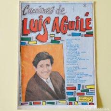 Catálogos de Música: LUIS AGUILE - CANCIONERO BISTAGNE - AÑOS 60. Lote 178563723