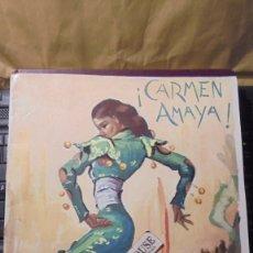 Catálogos de Música: CARMEN AMAYA / SABICAS - ANTIGUO `PROGRAMA - NEW-YORK , ILUSTRADO 20 PAG. 30,5X23 CM. . Lote 178606497