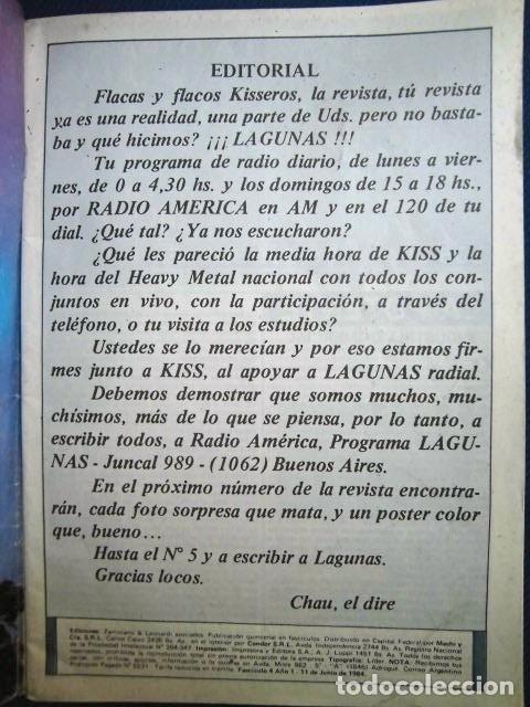 Catálogos de Música: KISS REVISTA CLUB DE FANS ORIGINAL EPOCA Nº4 HEAVY ROCK FOTOGRAFIAS Y ARTICULOS COMPLETA - Foto 6 - 178865260