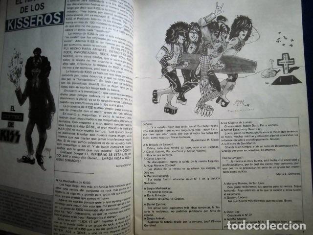 Catálogos de Música: KISS REVISTA CLUB DE FANS ORIGINAL EPOCA Nº4 HEAVY ROCK FOTOGRAFIAS Y ARTICULOS COMPLETA - Foto 9 - 178865260