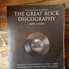 Catálogos de Música: GREAT ROCK DISCOGRAPHY MARTIN STRONG. Lote 178876547
