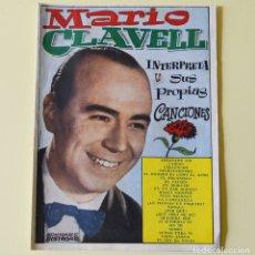 Catálogos de Música: MARIO CLAVELL INTERPRETA SUS PROPIAS CANCIONES - CANCIONERO BISTAGNE - 1962. Lote 178946272