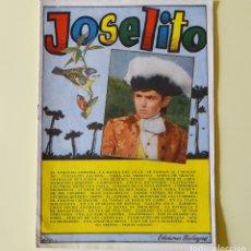 Catálogos de Música: JOSELITO - CANCIONERO BISTAGNE - AÑOS 60. Lote 178946663