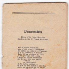 Catálogos de Música: ANTIGUO CANCIONERO - VER DESCRIPCION - IMPRENTA HENRICH - BARCELONA. Lote 180154541