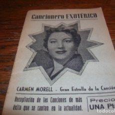 Catálogos de Música: MUY ANTIGUO CANCIONERO EXOTÉRICO,CARMEN MORELL . Lote 180415330