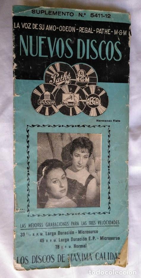 CATÁLOGO NUEVOS DISCOS ODEON, PATHÉ, MGM, REGAL, LA VOZ DE SU AMO. (Música - Catálogos de Música, Libros y Cancioneros)