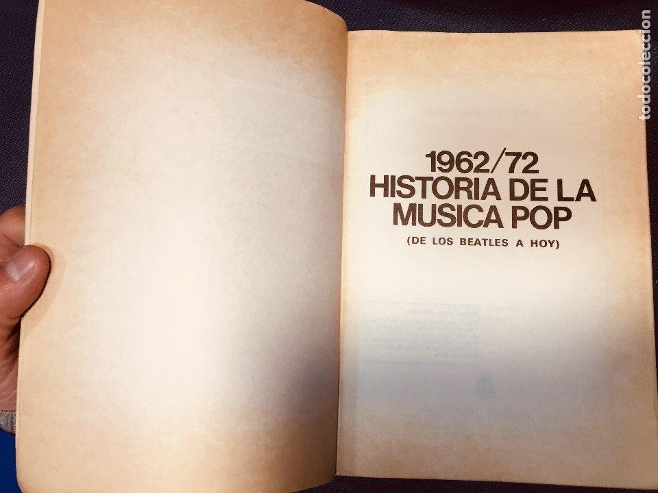 Catálogos de Música: historia de la música pop de los beatles a hoy 1962/72 primera edición 1972 barcelona - Foto 3 - 181588718