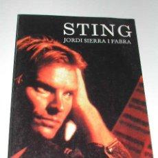 Catálogos de Música: STING, DE JORDI SIERRA I FABRA. Lote 183822732