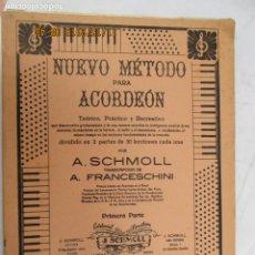 Catálogos de Música: NUEVO METODO PARA ACORDEON - A. SCHMOLL - AÑO 1954 . Lote 184309153