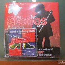Catálogos de Música: THE STONES IN THE PARK EN INGLES INCLUYE CD ROLLING STONES JUMP BACK PRECINTADO. Lote 184866017