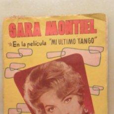 Catálogos de Música: CANCIONERO SARA MONTIEL EN MI ULTIMO TANGO. 1960. Lote 186283047