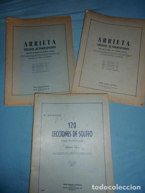 ARRIETA SOLFEOS AUTOGRAFIADOS SEGUNDO Y TERCERO - 120 LECCIONES DE SOLFEO PARA REPENTIZAR (Música - Catálogos de Música, Libros y Cancioneros)