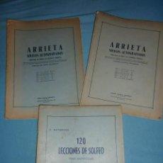 Catálogos de Música: ARRIETA SOLFEOS AUTOGRAFIADOS SEGUNDO Y TERCERO - 120 LECCIONES DE SOLFEO PARA REPENTIZAR. Lote 187435475