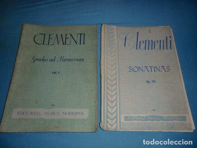 CLEMENTI GRADUS AD PARNASSUM VOL 1 Y DE REGALO SONATINAS (ESTE ESTA INCOMPLETO FALTAN HOJAS) (Música - Catálogos de Música, Libros y Cancioneros)