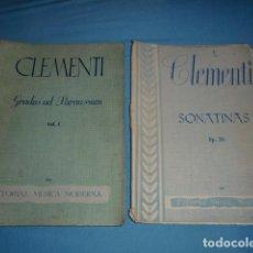Catálogos de Música: CLEMENTI GRADUS AD PARNASSUM VOL 1 Y DE REGALO SONATINAS (ESTE ESTA INCOMPLETO FALTAN HOJAS). Lote 187436005