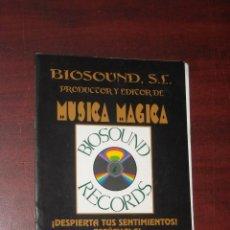 Catálogos de Música: MUSICA MAGICA -CATALOGO- AÑOS 90- SALVADOR CANDEL- CARLOS FIEL- SERGIO PERIS- ANGEL ESTEBAN. Lote 189118813