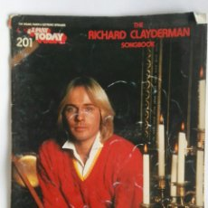 Catálogos de Música: THE RICHARD CLAYDERMAN SONGBOOK PIANO. Lote 189223896