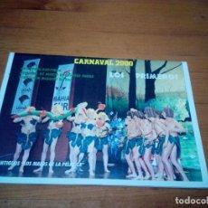 Catálogos de Música: LIBRETOS CARNAVAL 2000. LOS PRIMEROS. EST1B1. Lote 191132630
