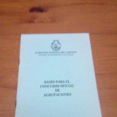 Catálogos de Música: BASES PARA EL CONCURSO OFICIAL DE AGRUPACIONES. FUNDACION GADITANA DEL CARNAVAL. 1993. EST1B1. Lote 191133137