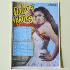 Catálogos de Música: DOLORES VARGAS - LA TERREMOTO - CANCIONERO BISTAGNE AÑOS 60. Lote 191518976