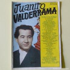 Catálogos de Música: JUANITO VALDERRAMA - CANCIONERO BISTAGNE AÑOS 60. Lote 192162795