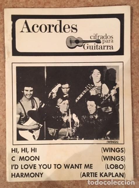 WINGS - PAUL MCCARTNEY - ACORDES CIFRADOS PARA GUITARRA (Música - Catálogos de Música, Libros y Cancioneros)