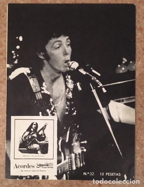 Catálogos de Música: WINGS - PAUL MCCARTNEY - ACORDES CIFRADOS PARA GUITARRA - Foto 2 - 193971288