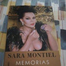 Catálogos de Música: SARA MONTIEL / LIBRO / MEMORIAS VIVIR ES UN PLACER. Lote 193995807