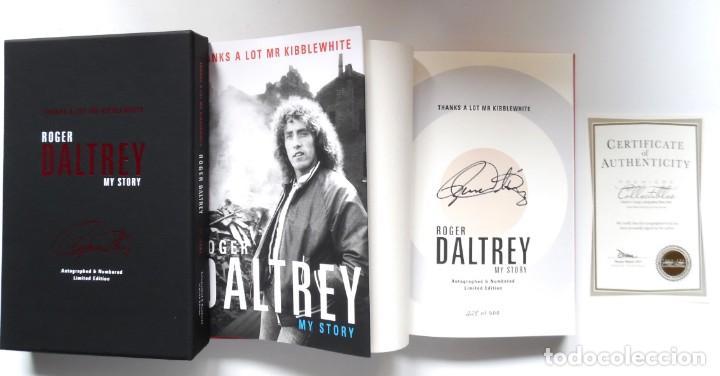 ROGER DALTREY. FIRMADO A MANO Y NUMERADO. CERTIFICADO. MY STORY. THANKS A LOT ...EN ESTUCHE. THE WHO (Música - Catálogos de Música, Libros y Cancioneros)