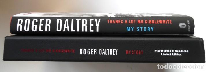 Catálogos de Música: Roger Daltrey. Firmado a mano y numerado. Certificado. My Story. Thanks a lot ...En estuche. The Who - Foto 12 - 194100922