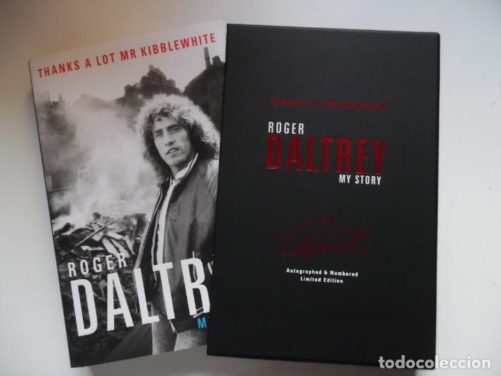 Catálogos de Música: Roger Daltrey. Firmado a mano y numerado. Certificado. My Story. Thanks a lot ...En estuche. The Who - Foto 13 - 194100922
