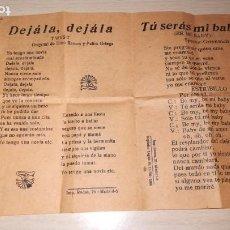 Catálogos de Música: CANCIONERO SI YO TUVIERA UN MARTILLO, DEJALA,DEJALA, TU SERAS MI BABY Y MUÑEQUITA, AÑO 1964 IMP.RODA. Lote 194297348