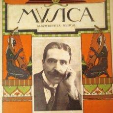 Catálogos de Música: MÚSICA. ALBUM REVISTA MUSICAL Nº 4 1917 EL MAESTRO SACO DEL VALLE. Lote 194400995