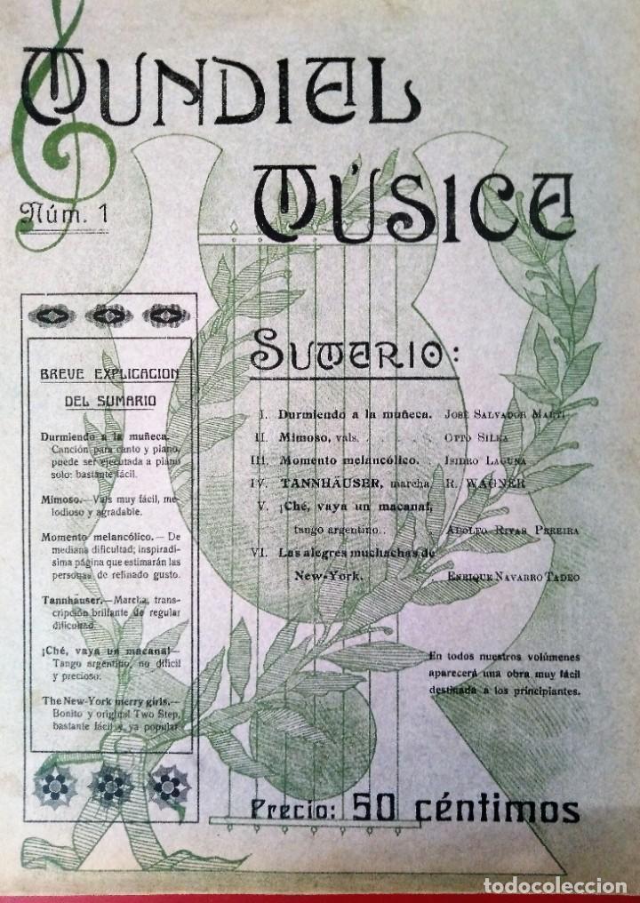 MUNDIAL MUSICA N 1 DURMIENDO LA MUÑECA (Música - Catálogos de Música, Libros y Cancioneros)