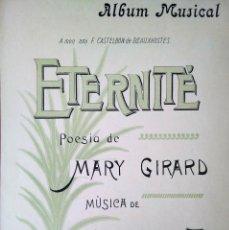 Catálogos de Música: ETERNITE POESIA DE MARY GIRARD MNUSICA J.MASSENET. Lote 194402165