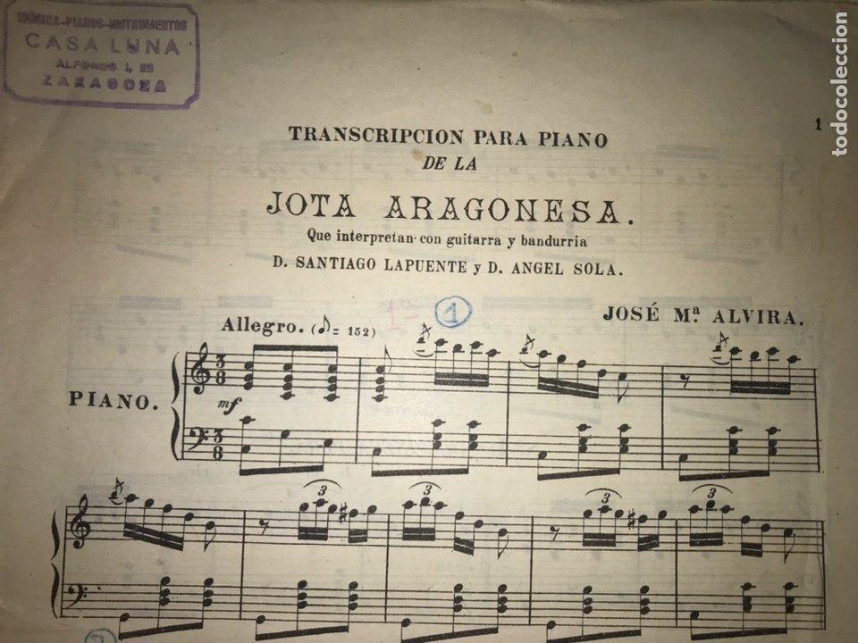 RECOPILACIÓN LAPUENTE-SOLA. CANCIONERO DE ALVIRA.. JOTA ARAGONESA. (Música - Catálogos de Música, Libros y Cancioneros)