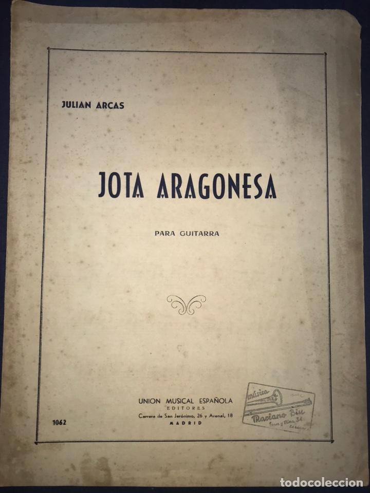 JULIAN ARCAS. JOTA ARAGONESA PARA GUITARRA. (Música - Catálogos de Música, Libros y Cancioneros)