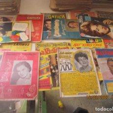 Catálogos de Música: CANCIONEROS -LOTE DE 17 -JOSELITO, NAT KING COLE, SARA MONTIEL, LUCHO GATICA... VER DESCRIPCION. Lote 194598080