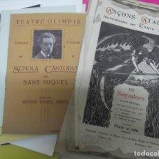 Catálogos de Música: CONJUNTO FOLLETOS, PROGRAMAS, PERTITURAS MUSICA CATALANES. Lote 194658856