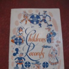 Catálogos de Música: CATALOGO CHILDRENS RECORDS . HIS MASTERS VOICE . COLUMBIA PARLOPHONE DISCOS EN INGLES. Lote 194691540