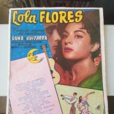 Catálogos de Música: CANCIONERO LOLA FLORES 1958 LUNA Y GUITARRA ED. BISTAGNE. Lote 194927806