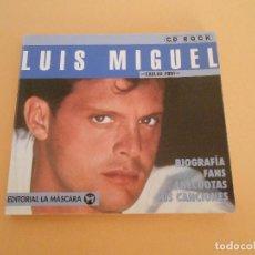 Catálogos de Música: LUIS MIGUEL - CARLOS FONT - EDITORIAL LA MÁSCARA - 1999. Lote 194967096