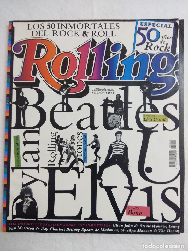 ROLLING STONE/ESPECIAL 50 AÑOS DE ROCK/LOS 50 IMORTALES DEL ROCK & ROLL. (Música - Catálogos de Música, Libros y Cancioneros)