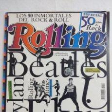 Catálogos de Música: ROLLING STONE/ESPECIAL 50 AÑOS DE ROCK/LOS 50 IMORTALES DEL ROCK & ROLL.. Lote 195116891