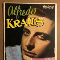 Catálogos de Música: CANCIONERO: ALFREDO KRAUS. EDICIONES BISTAGNE 1960. MUY BUEN ESTADO. 16 PÁGINAS.. Lote 214194026