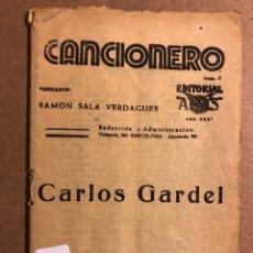 Catálogos de Música: CANCIONERO N° 5: CARLOS GARDEL. EDITPRIAL ALAS. 32 PÁGINAS.. Lote 195439865