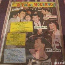 Catálogos de Música: REVISTA CANCIONERO RITMOS MODERNOS EDICIONES BISTAGNE ELVIS FABIAN FRANKIE AVALON PAT BOONE. Lote 196245883