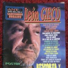 Catálogos de Música: LEON GIECO - CANCIONERO URBANO (ARGENTINA) - LETRAS Y ACORDES PARA GUITARRA - 44 PAGINAS . Lote 196483325