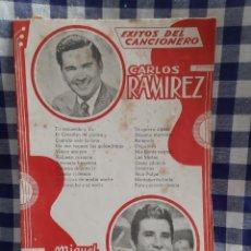 Catálogos de Música: CANCIONERO CARLOS RAMÍREZ, MIGUEL ACEVES. Lote 197193986