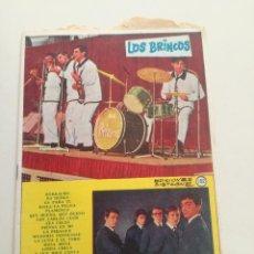 Catálogos de Música: LOS BRINCOS / LOS SIREX - CANCIONERO EDICIONES BISTAGNE 1965 // POP ESPAÑOL BEAT YE YE. Lote 198050247